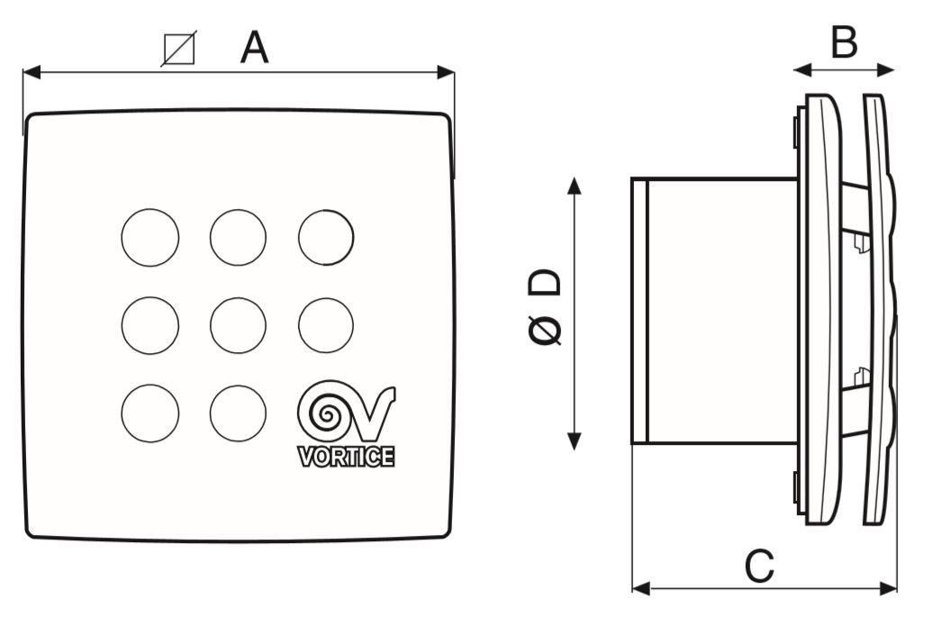 размеры вентиляторов серии Lineo V0