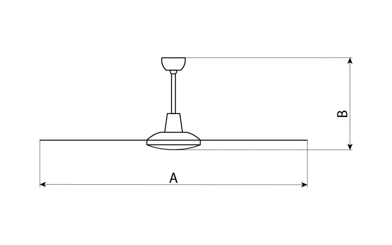 Размер потолочного вентилятора