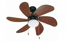 Люстра вентилятор Palao Marron (Палао коричневый) (33185FAR)
